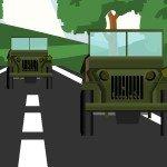 Игра Военные машины устраивают гонки