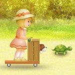Игра Две маленькие девочки на велосипедах