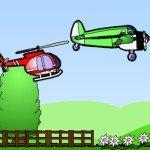 Игра Самолет, вертолет и дирижабль в небесных гонках