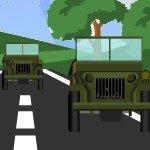 Игра Военные машины в крутых гонках