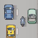 Игра Аркадная игра с мотоциклистом