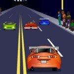Игра Drag racing на улицах города