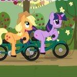 Игра Гонки пони на велосипедах
