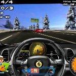 Игра Скоростные заезды автомобилей - вид от руля