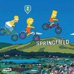 Игра Симпсоны на велосипедах