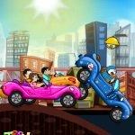 Игра Дораэмон с друзьями на машинах