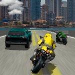 Игра Мотоцикл в трафике