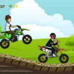 Игра Мультяшные герои в мотогонках