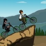 Игра Бен 10 с другом на велосипедах